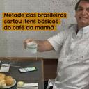 Metade dos brasileiros cortou itens do café da manhã