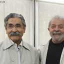 Lula recebe visita de Olívio Dutra em São Paulo