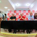 Lula participa de reunião no Diretório Nacional do PT
