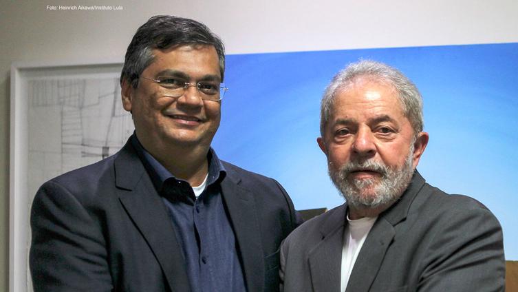 Resultado de imagem para foto lula e o governador flavio dino