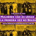 Há 84 anos: brasileiras vão às urnas pela  1ª vez