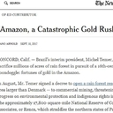 The NYT: In the Amazon, a Catastrophic Gold Rush Looms