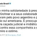 Lula rechaza la cacería judicial contra Cristina Fernández