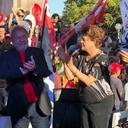 Caravana reúne quatro presidentes em praça