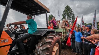 Lula visita agricultura familiar em Ronda Alta