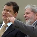 Lula envia mensagem solidária ao companheiro Rafael Correa