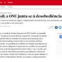 """""""Brasil: a ONU junta-se à desobediência civil"""""""