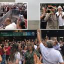 Ato pela liberdade de Lula toma rodoviária de Sāo Paulo