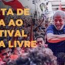 Leia a carta de Lula ao Festival Lula Livre