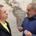 Lula recebe visita do ex-presidente argentino Duhalde