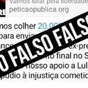 Espalhe a verdade: Só há um abaixo-assinado por Lula Livre