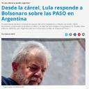 Lula: Bolsonaro ofende al pueblo argentino
