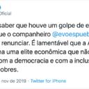Lula condena golpe da elite econômica na Bolívia