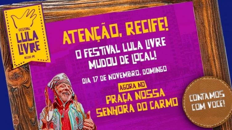 Resultado de imagem para Lula vem ao Recife participar de Festival Lula Livre