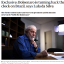 Lula to The Guardian: Bolsonaro is turning back the clock on Brazil