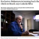 Lula to The Guardian: Bolsonaro is turning back the clock on Brazil