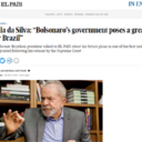 "Lula da Silva: ""Bolsonaro's government poses a great risk for Brazil"""