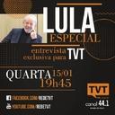 Hoje, Lula fala à TVT fala sobre desafios da democracia