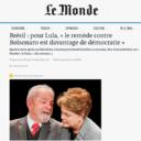 Para Lula, ʽremédio contra Bolsonaro é mais democracia'