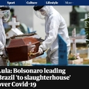 The Guardian: Bolsonaro leading Brazil 'to slaughterhouse' over Covid-19, says Lula