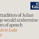 Lula sai em defesa de Assange no The Guardian