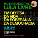 Sábado é dia de Mutirão Lula Livre com Dilma Rousseff