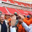 Lula elogia estádio Mané Garrincha em visita ao lado de governador Agnelo Queiroz
