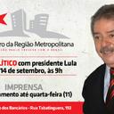 Lula participa de encontro da Região Metropolitana