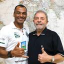 Cafu se encontra com Lula